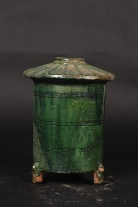 Chinese Green Color Pot With Cover