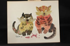 Chinese Painting Of Cats