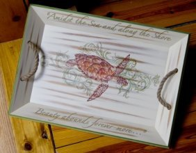 Sea Life Tray And Pillows By Right Side Design