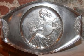 19th Cent. Silver Angel Charger By Luisana Designs