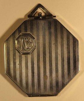 Sterling Silver Art Deco Purse Pendant