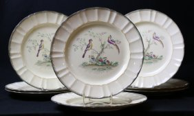 English Leeds Dinner Plate Grouping