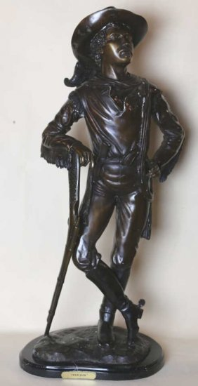 """texas Jack"" Bronze Sculpture After Remington"