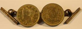 1883 U.s. V Coin Antique Cuff Links