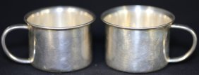 Sterling Silver Towle Handled Bunny Baby Cups