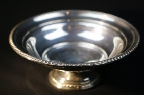 Sterling Silver Raised Serving Bowl
