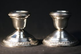 Crown Sterling Candle Holders