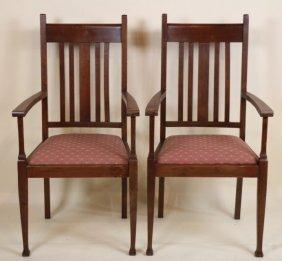 Antique Mission Armchairs