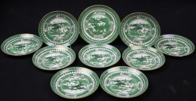 Asian Green & White Plate Grouping