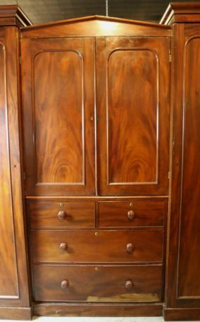 English Antique Mahogany Chifferobe