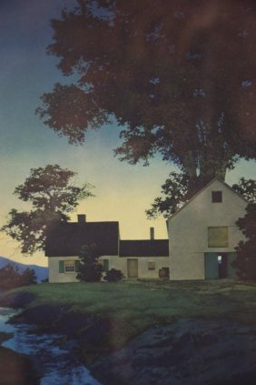 Farm House Illegebly Signed Print