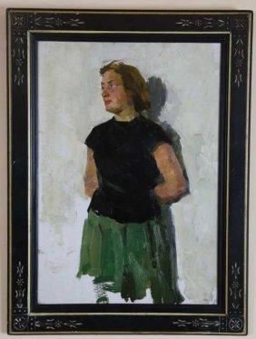 1956 Self Portrait Illegebly Signed
