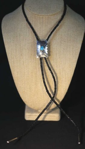 Gary Edwards Sterling Silver & Turquoise Bolo