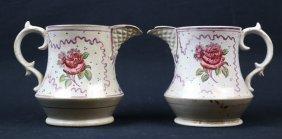 Antique Floral Porcelain Pitchers
