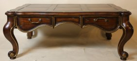 Contemporary Hand Pegged Oversized Coffee Table