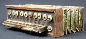 Antique Rosewood / Mop Accordian Intrument