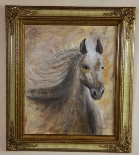 Judy Brown Equestrain Portrait Painting