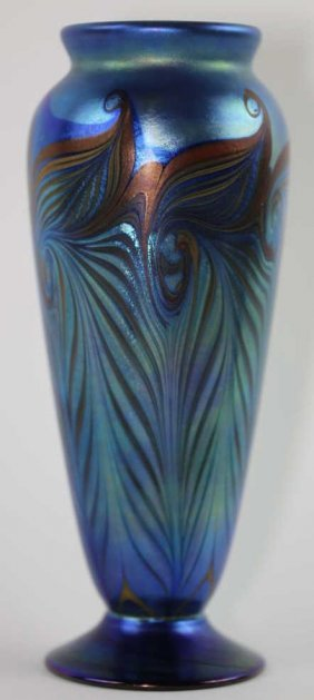 L.c. Tiffany Favrile Art Glass Vase