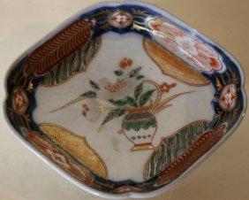 Japanese Imari Footed Low Bowl