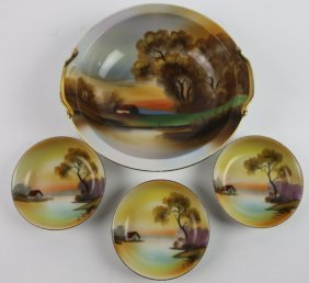 Japanese Noritake Hand Painted Bowl Set