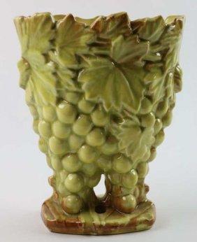 Mid-century Modern Floral Pottery Vase