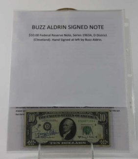 "Nasa ""buzz Aldrin"" Signed 1963a $10 Note"