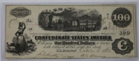 Richmond Va 1962 Confederate $100 Note