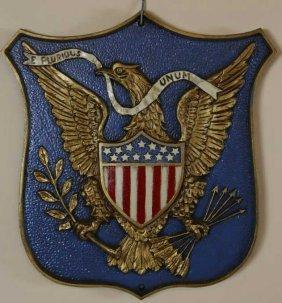 Vintage American Shielded Hanging Plaque