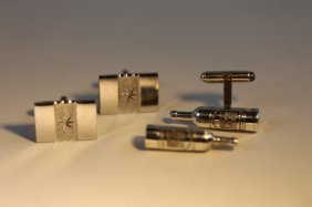 Sterling Silver Men's Cufflink Grouping