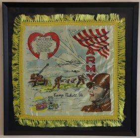 """U.s. Army Vintage Framed """"mothers"""" Textile"""