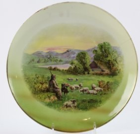 German Porcelain Hand Painted Charger