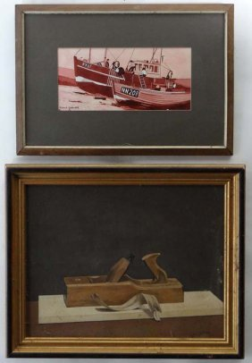 Robert G. Galbraith XX Two Paintings, A Watercolour