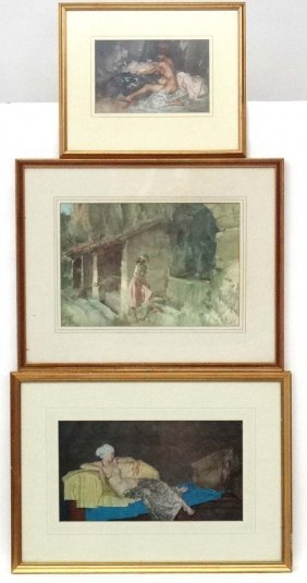 After William Russell Flint, Three Coloured Prints, '