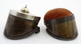 Two Late Victorian Pony Hoof Items To Include Desk