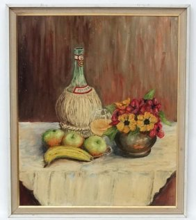 G Hodges Xx Oil On Board Still Life Signed Lower Right