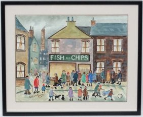 Linford France Xx Industrial School Watercolour ' Fish