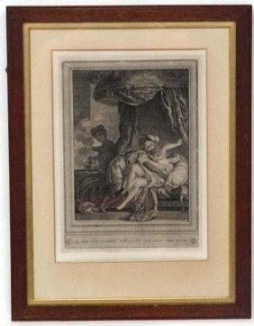 Vidal After Monnet 1778 Engraving ' Le Roi D'ethiopie