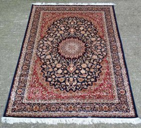 Carpet / Rug : A Machine Made Keshan Carpet, The Blue