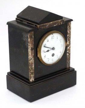 Mantel Clock : A Slate Cased Mantel Clock ( Time Piece