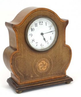 Clock : An Early 20 Thc Mahogany Mantle Timepiece