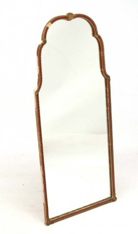An Early 20thc Queen Anne Style Shaped Wall Mirror 17''