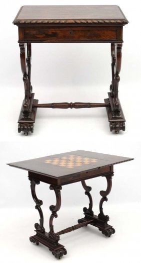 A 19thc Regency Rosewood Occasional Table With Tripod