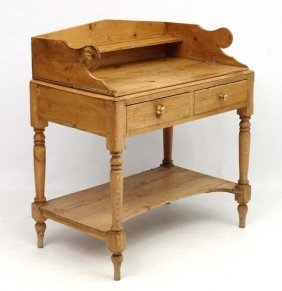A Victorian Stripped And Waxed Pine 2-door Washstand 35