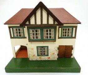 A Triang Wooden 1950s Stockbroker Dolls House, Number