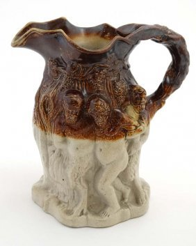 A Late 19thc Brampton Brown Style Salt Glazed Jug