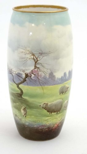 An Early 20thc Royal Doulton Ovoid Vase With Hand