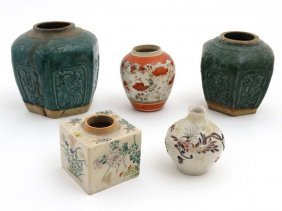 A Collection Of 5 Oriental Style Ceramics To Include; A