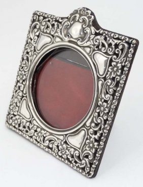 An Art Nouveau Silver Mounted Photograph Frame With