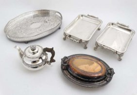 A Collection Of Assorted Silver Plated Wares To Include