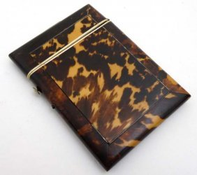 An Early 19thc Blonde Tortoiseshell Hinged Case With